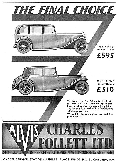 Charles Follet - Alvis Speed Twenty