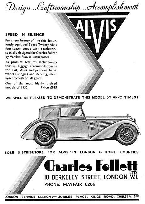 Charles Follet - Alvis Speed Twenty. Speed In Silence