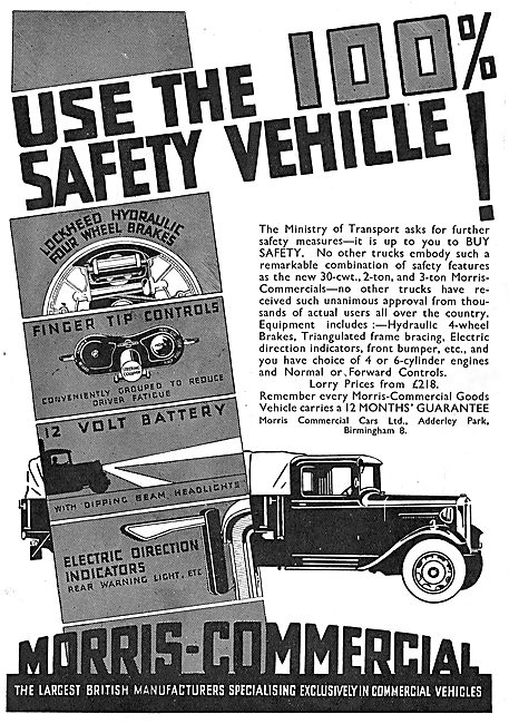Features Of Morris-Commercial Safety Vehicles