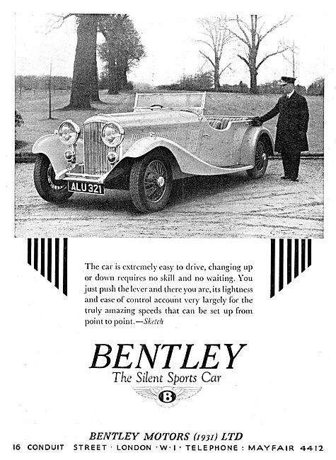 Bentley Motor Car ALU 321 - 1934