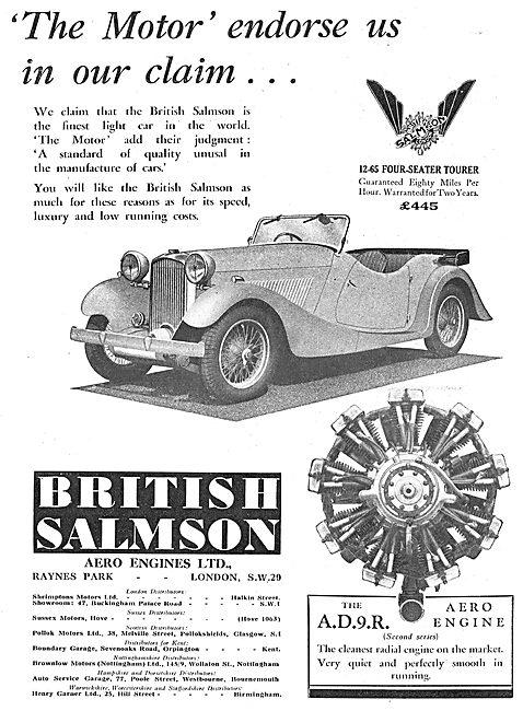 British Salmson 12-65 Four Seater Tourer