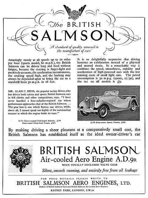 British Salmson 12-70 Four Seater Sports Tourer