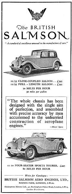 British Salmson 12/55 Saloon Close Coupled