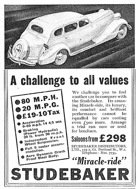 Miracle Ride Studebaker Saloon Car