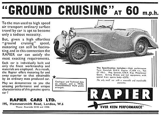 Rapier Cars 1935 Advert