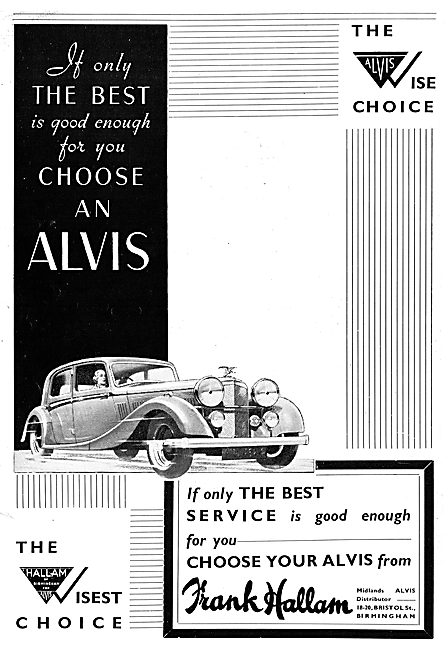Frank Hallam Bristol St Birmingham - Alvis Cars