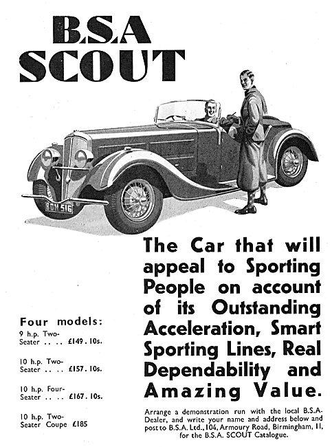 BSA Scout Car 1936