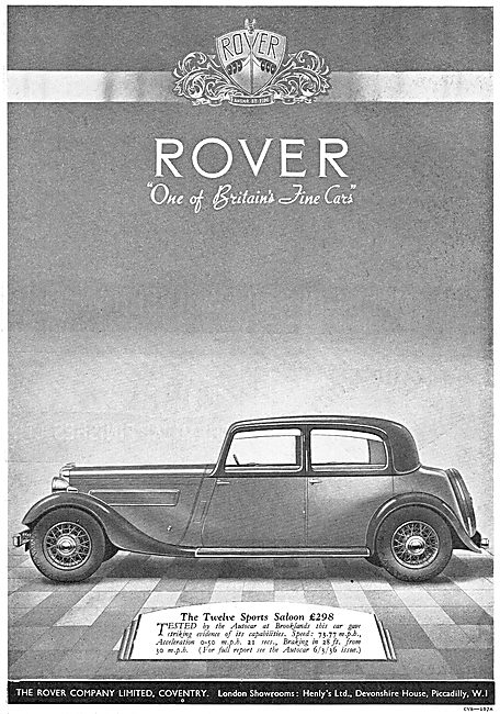 The Rover Twelve Sports Saloon 1936