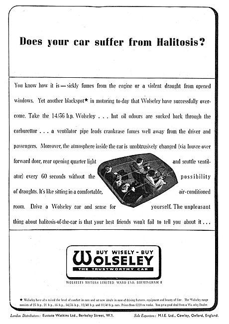 14/65 HP Wolseley Car  1936