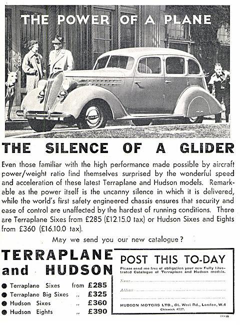 Hudson Motors  - Terraplane & Hudson. Hudson Six