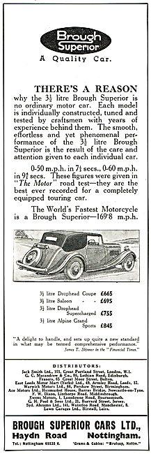 1937 Brough Superior 3.5 Litre Drophead Coupe