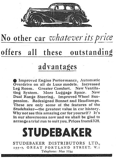 1937 Studebaker Motor Cars