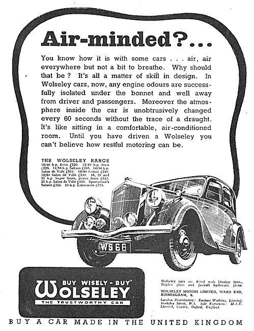 1937 Wolseley 10/40 Saloon De Ville