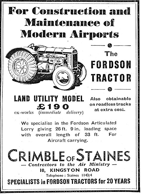 Fordson Tractor Land Utility Model 1937