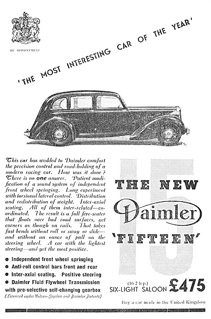 Daimler Fifteen - Daimler 15. 1937