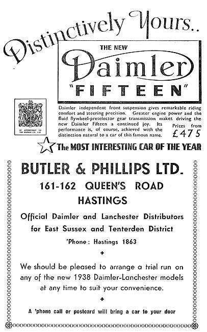 Daimler Fifteen - Daimler 15. 1937. Butler & Philips Hastings