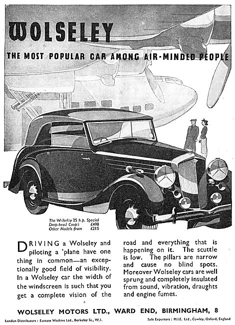 1939 Wolseley 25HP Drop Head Coupe
