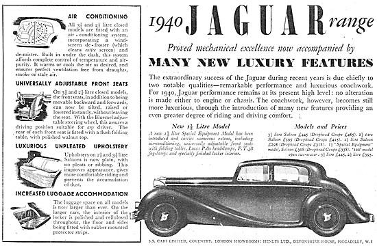 S.S.Cars. Jaguar Cars 1939