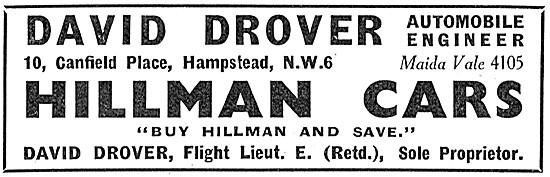 Hillman Cars - David Drover Automobile Engineers. Maida Vale