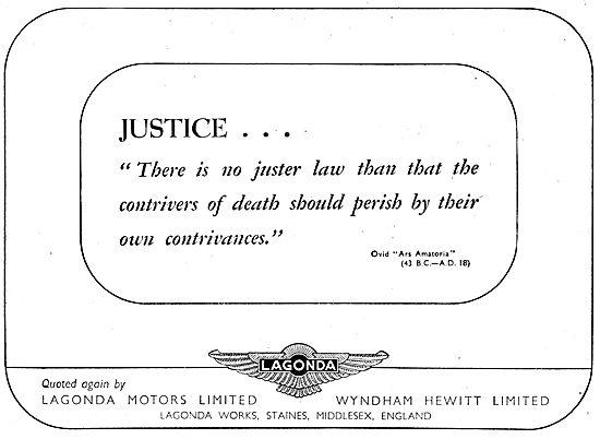 Lagonda Motors 1943
