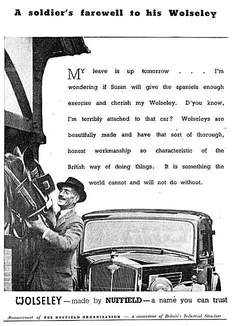 Wolseley Cars 1943 Advert Nuffield
