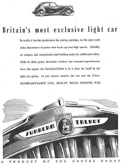 Sunbeam-Talbot 10 - Sunbeam-Talbot 2 Litre 1946 Advert