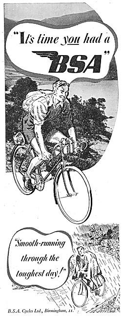 BSA Bicycles - BSA Cycles 1946 Advert