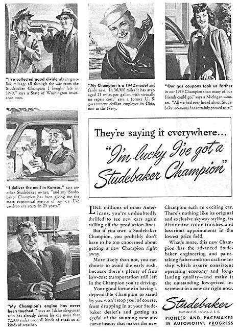 Studebaker Champion 1946 Advert