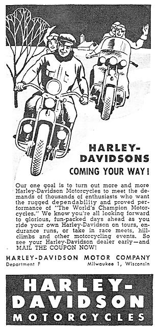 Harley-Davidson Motorcycles 1946
