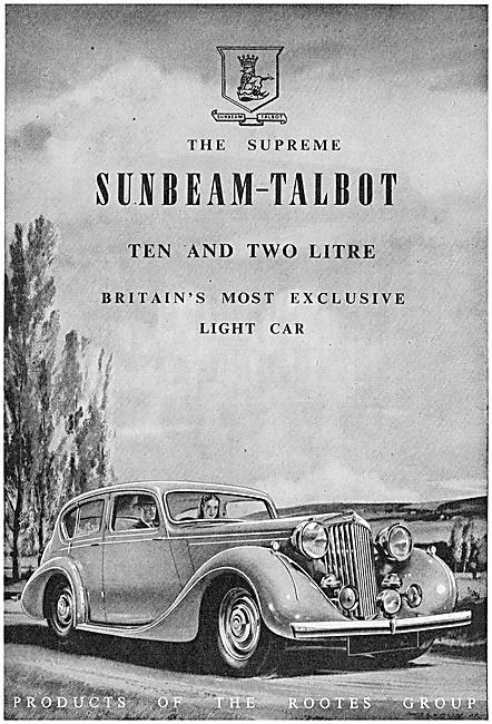 Rootes Group Sunbeam-Talbot Ten Motor Car 1947