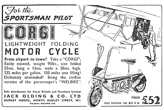 Corgi Lightweight Folding Motorcycle 1948