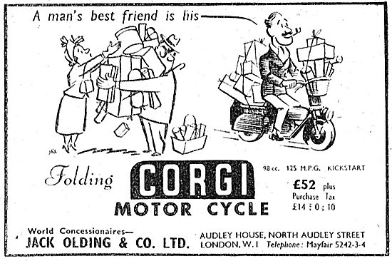 Corgi Motor Cycles 1949 Advert