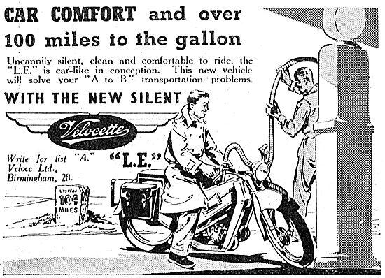 Velocette LE Motorcycle 1949 Advert
