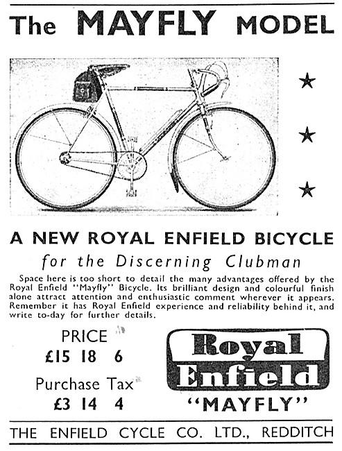 Royal Enfield Bicycles - Roal Enfield Mayfly Bicycle 1949