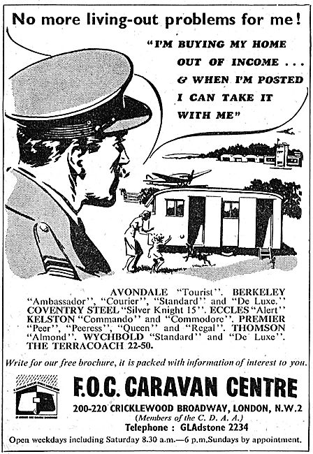 Avondale, Berkeley & Peremier Caravans For RAF Personnel 1950