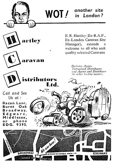 Hartley Caravan Distributors - Caravans For RAF Personnel 1950