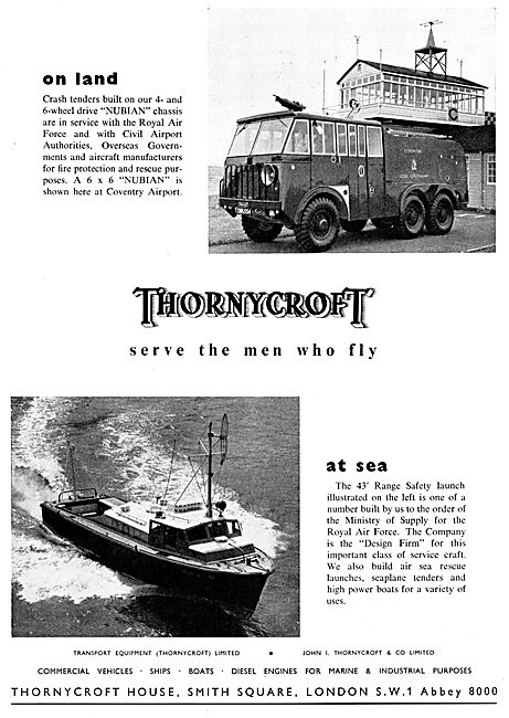 Thornycroft Nubian Airport Fire Tender - Thornycroft 43' Launch