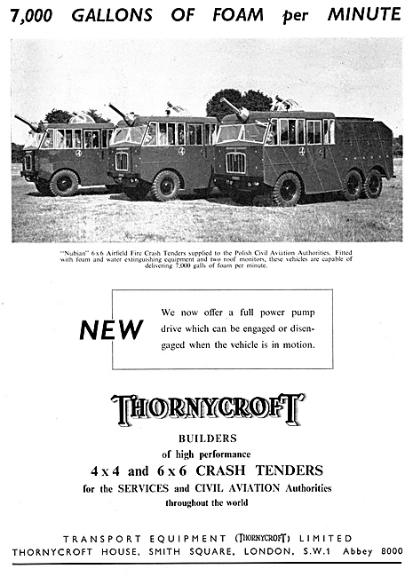 Thornycroft Airport Crash Tenders 1958