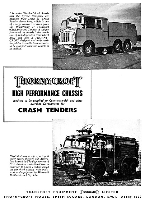 Thornycroft Crash Tenders - Thornycroft Nubian Fire Tender 1959