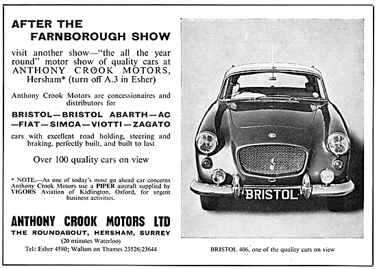 Anthony Crook Motors. Bristol Cars