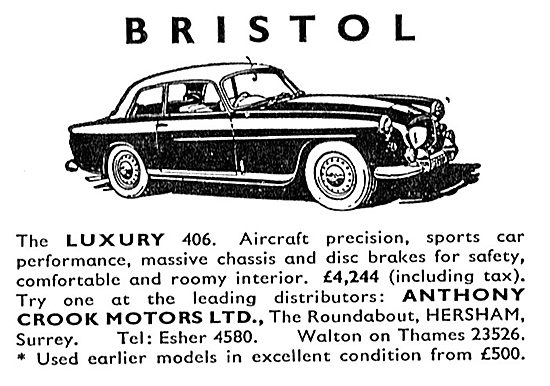 Bristol 406 - Anthony Crook Motors Ltd