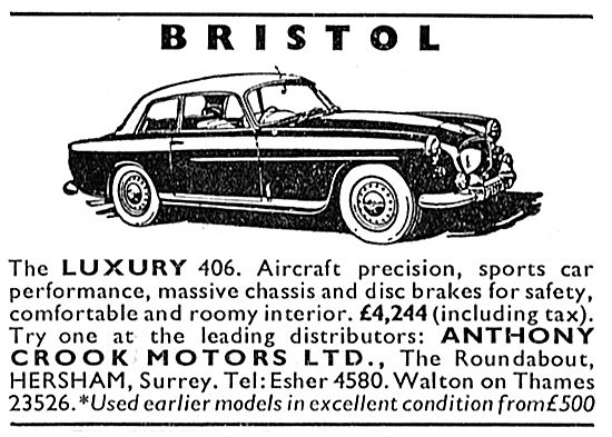 Anthony Crook Motors - Bristol 406