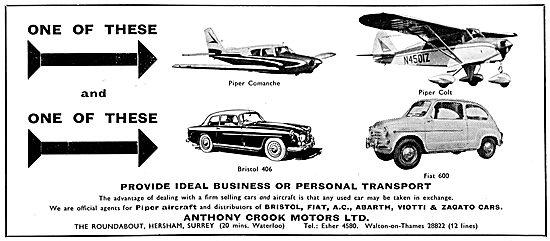 Anthony Crook Motors - Bristol Cars - FIAT Cars & Piper Aircraft