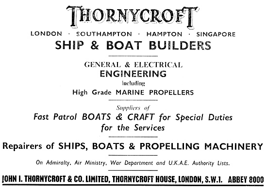 Thornycroft  Marine Craft - Patrol Boats