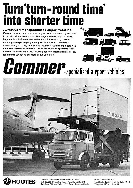 Rootes Commer Airport Service Vehicles