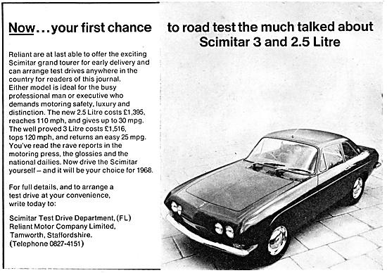Reliant  Cars  - Reliant  Scimitar 3 1968