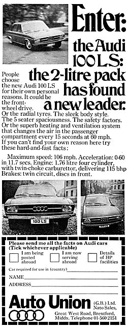 Auto Union (GB Sales)  Audi 100LS