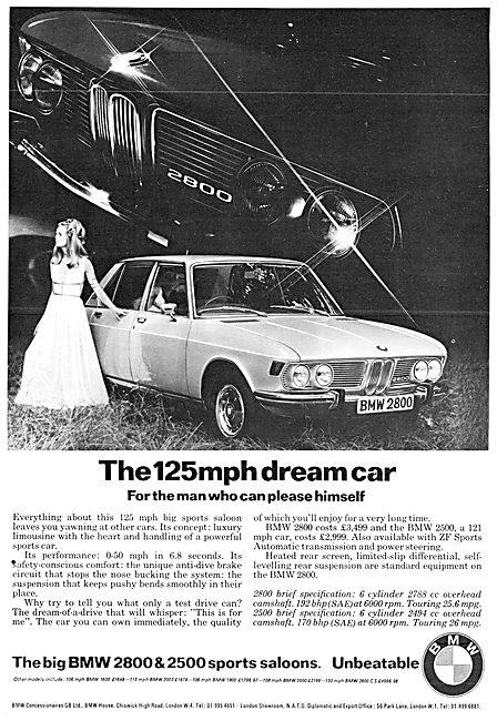 BMW 2800 Motor Car 1971