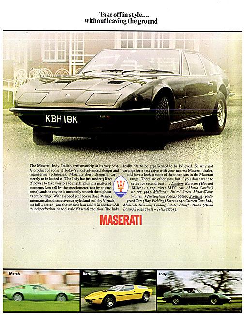 1973 Maserati Indy KBH 18K