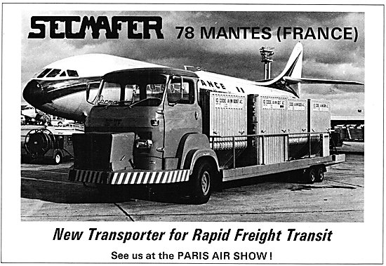 Secmafer Aircraft Freight Transporter vehicles